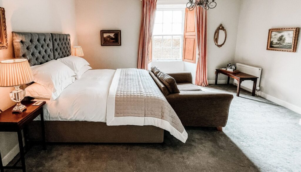 Bedroom at Forss House Hotel